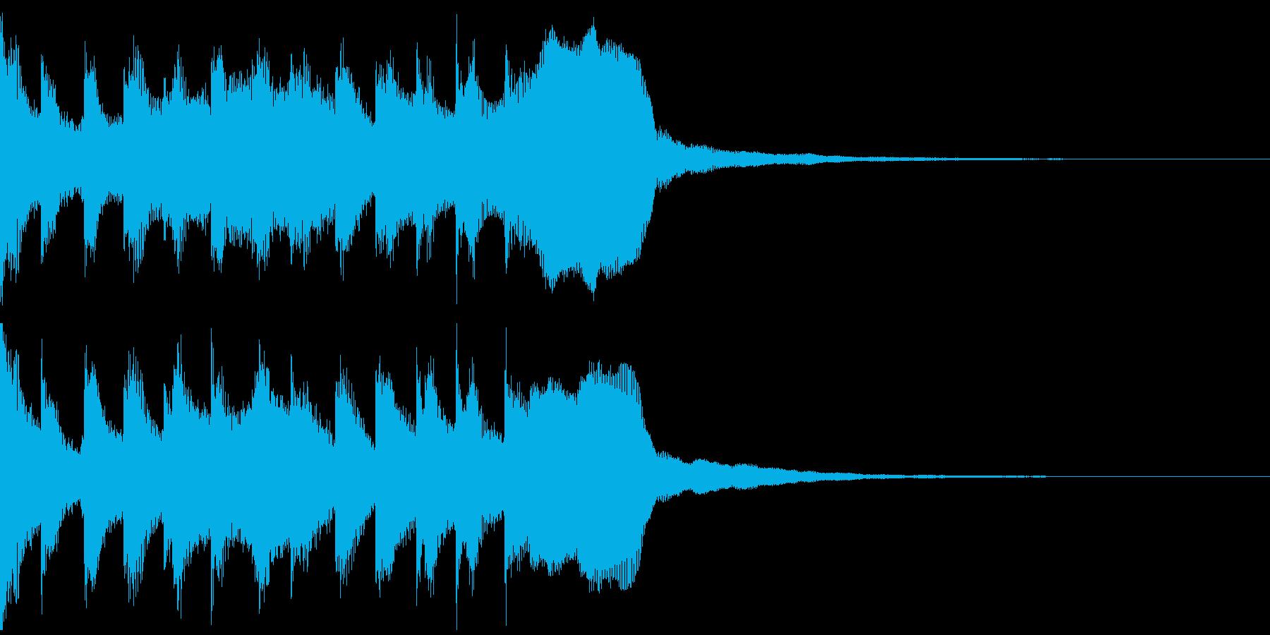 サウンドロゴ、ゴージャス感、verFの再生済みの波形