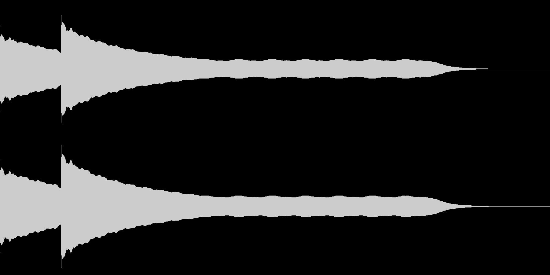 チーンチーン 仏壇の鐘の音3の未再生の波形