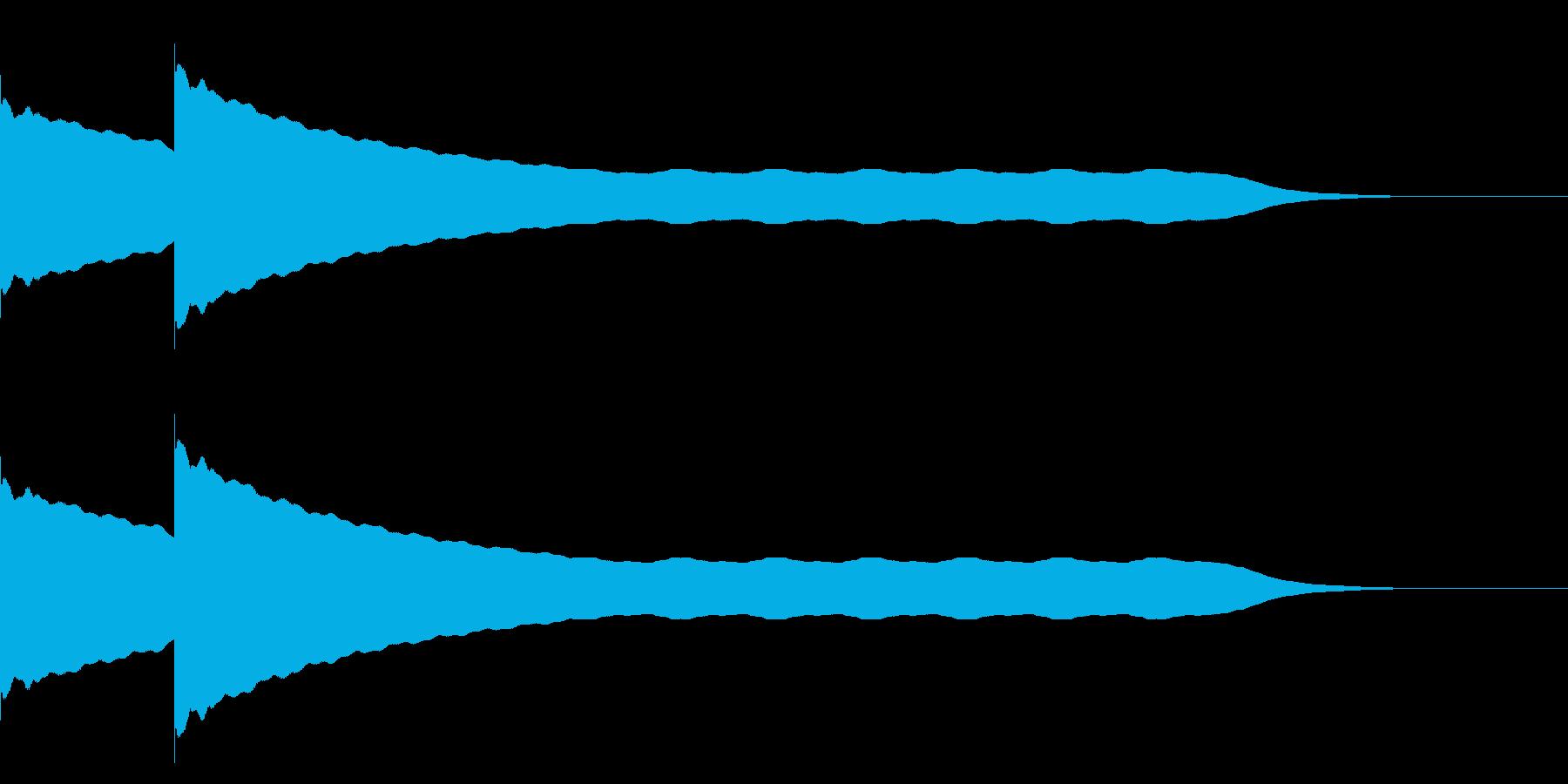 チーンチーン 仏壇の鐘の音3の再生済みの波形