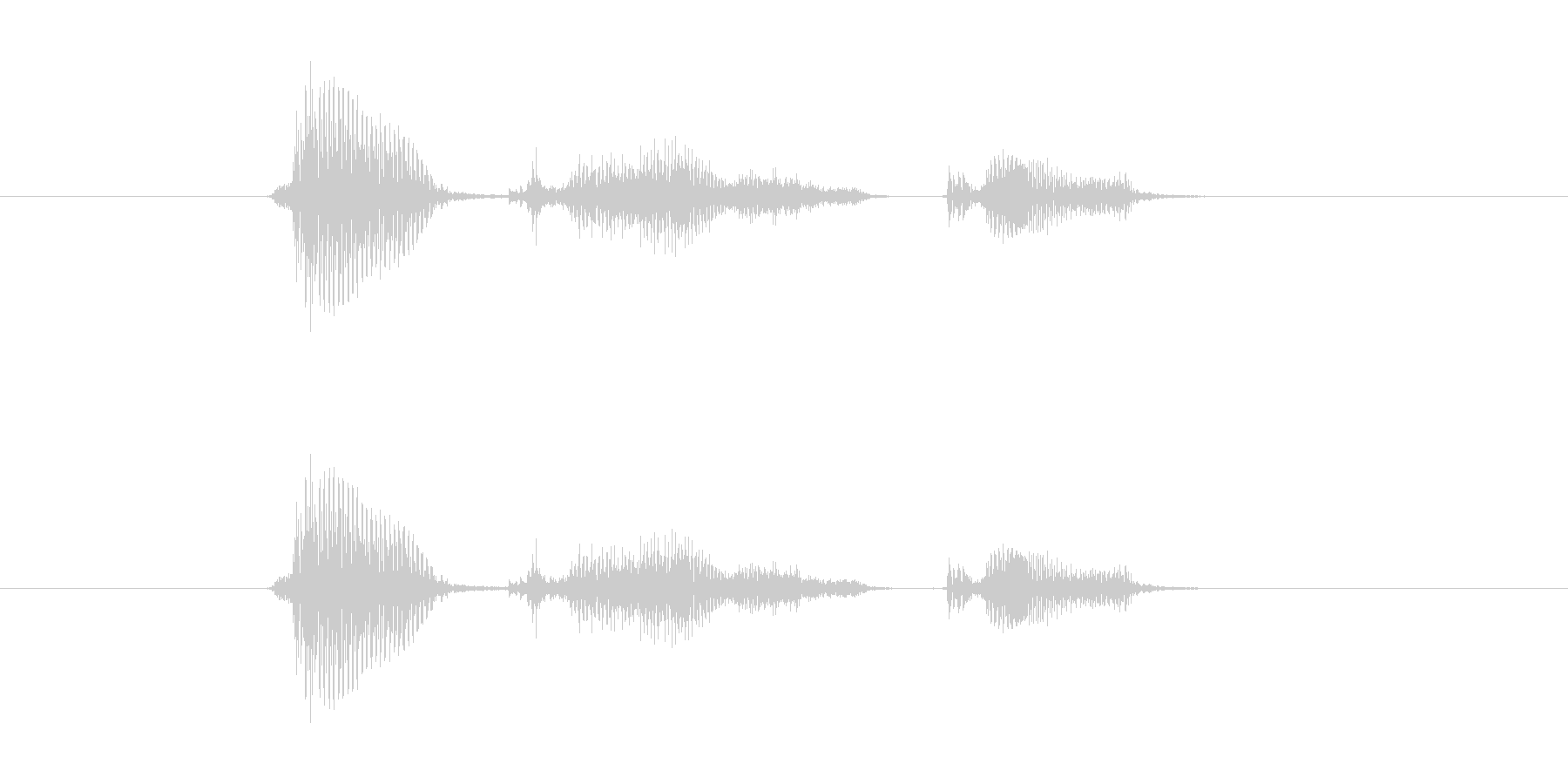 バカスカの未再生の波形