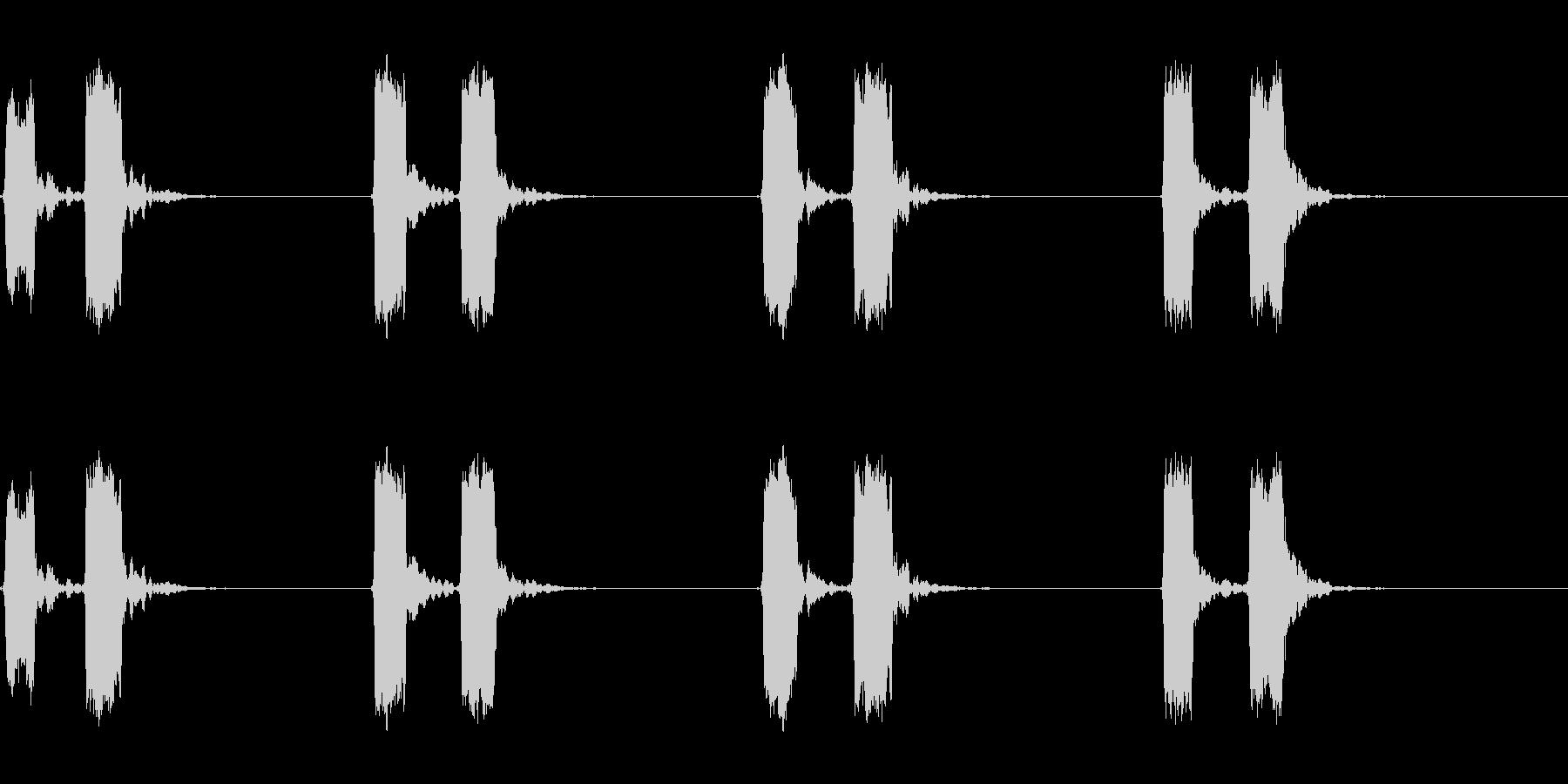 ホイッスル音04(ピッピッ)の未再生の波形