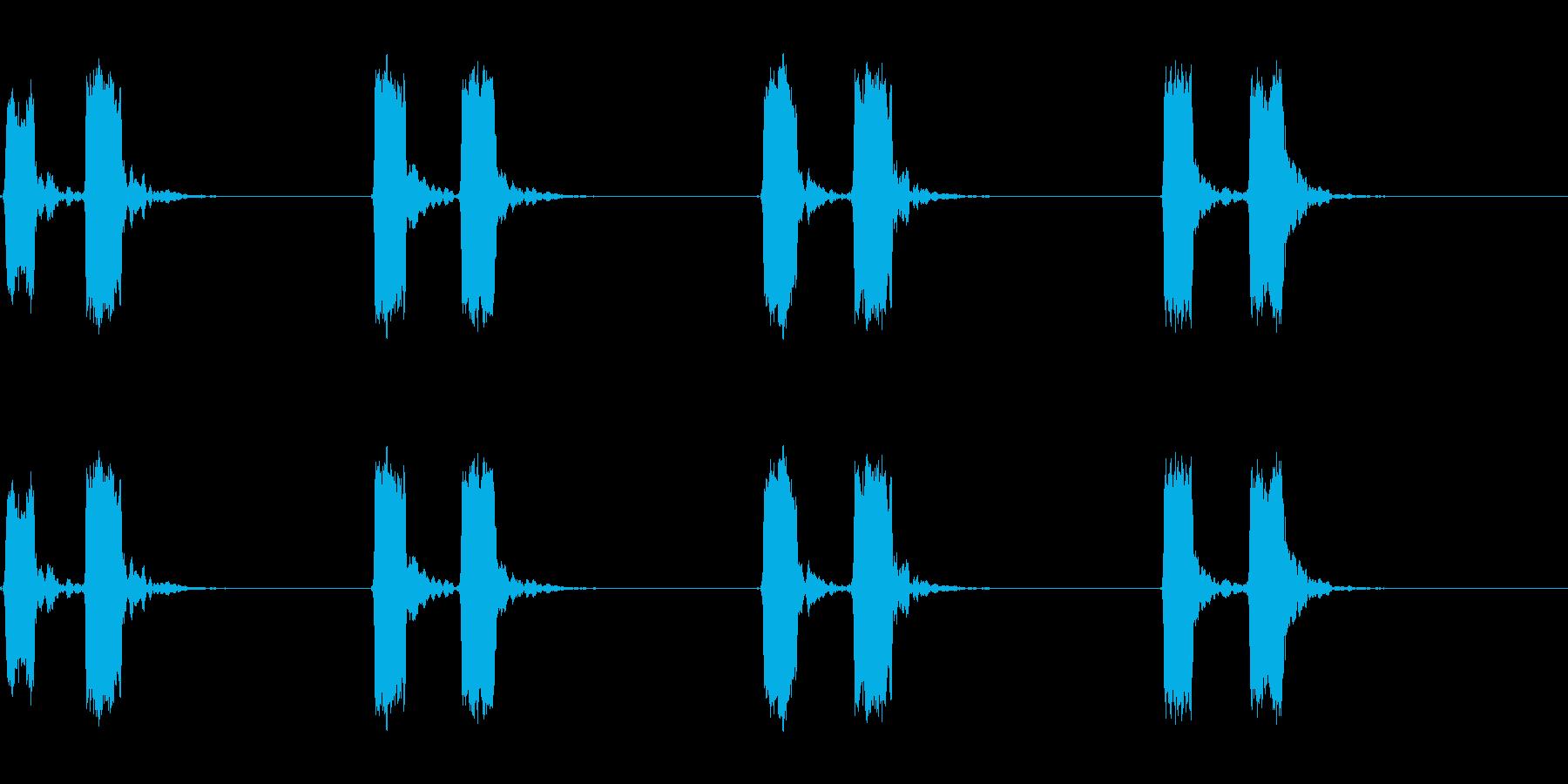 ホイッスル音04(ピッピッ)の再生済みの波形