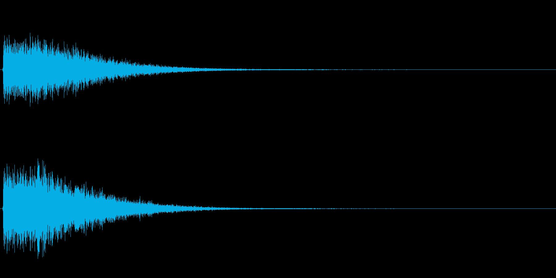 ゲームスタート、決定、ボタン音-043の再生済みの波形
