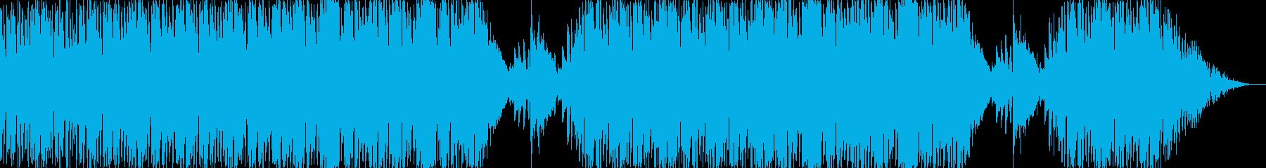 ほのぼのした雰囲気の楽曲の再生済みの波形
