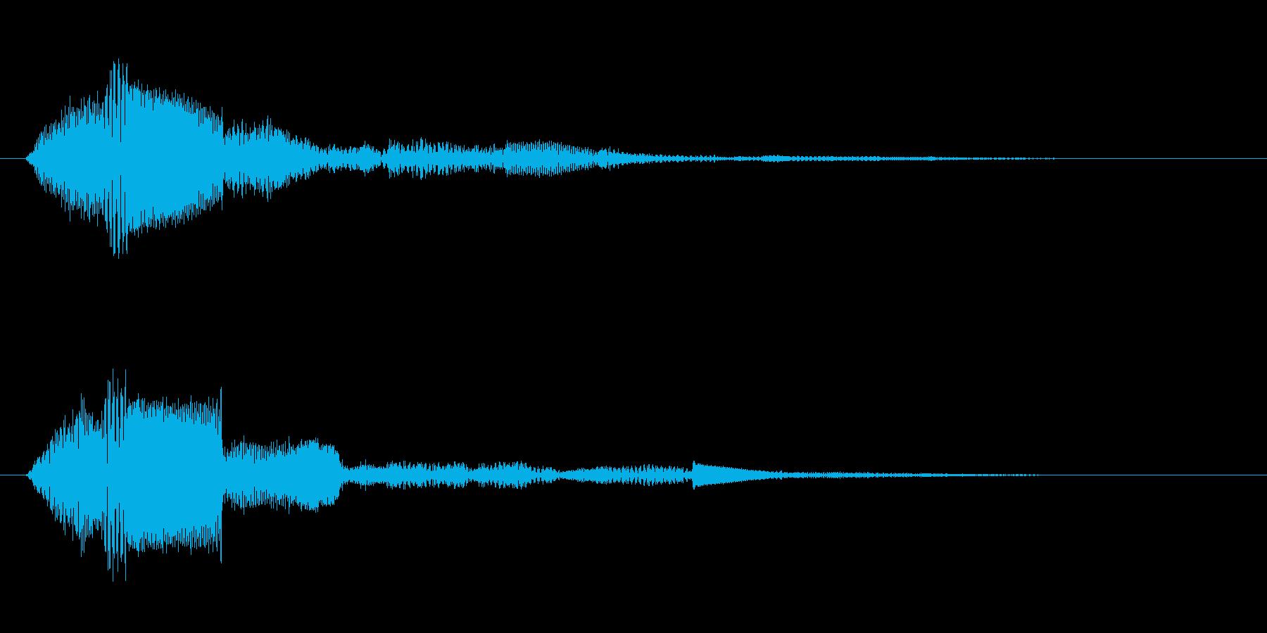 お知らせ・通知・受信音(ティロン)の再生済みの波形