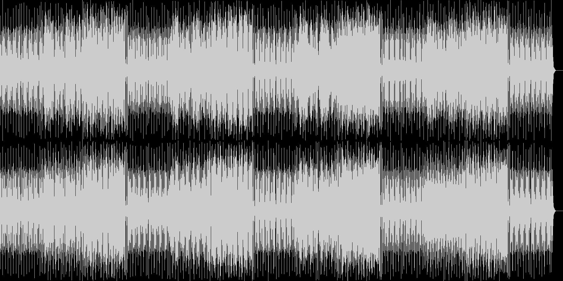 ピチカートとトランペットの可愛いマーチの未再生の波形