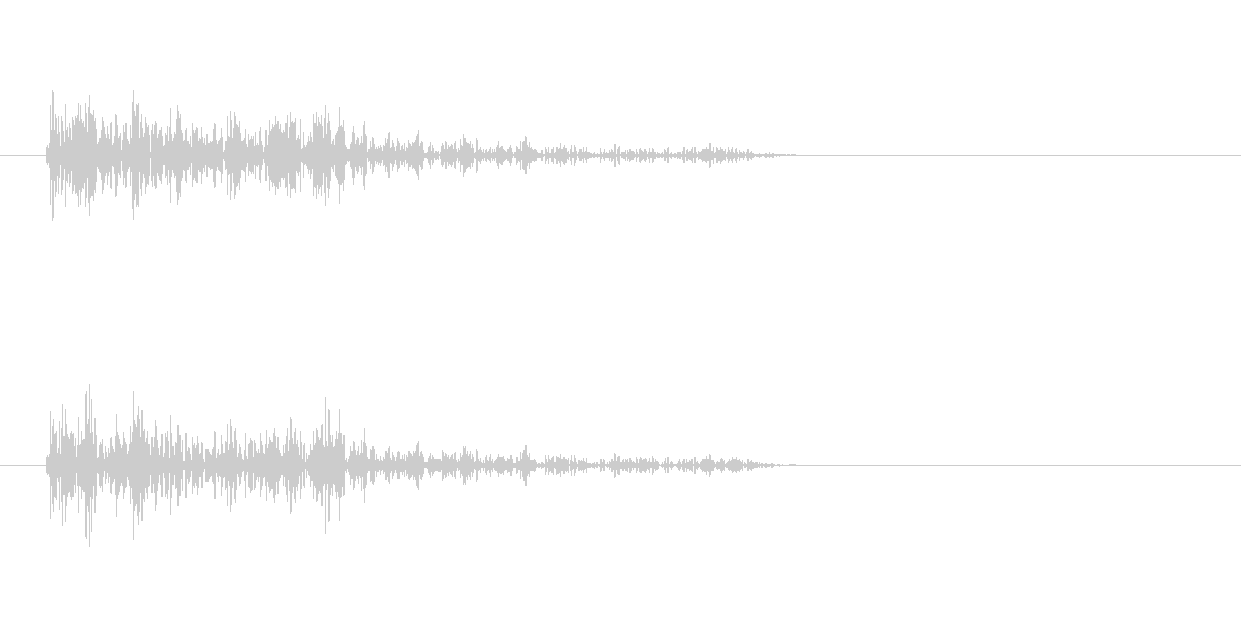 バーン(爆発音)3の未再生の波形