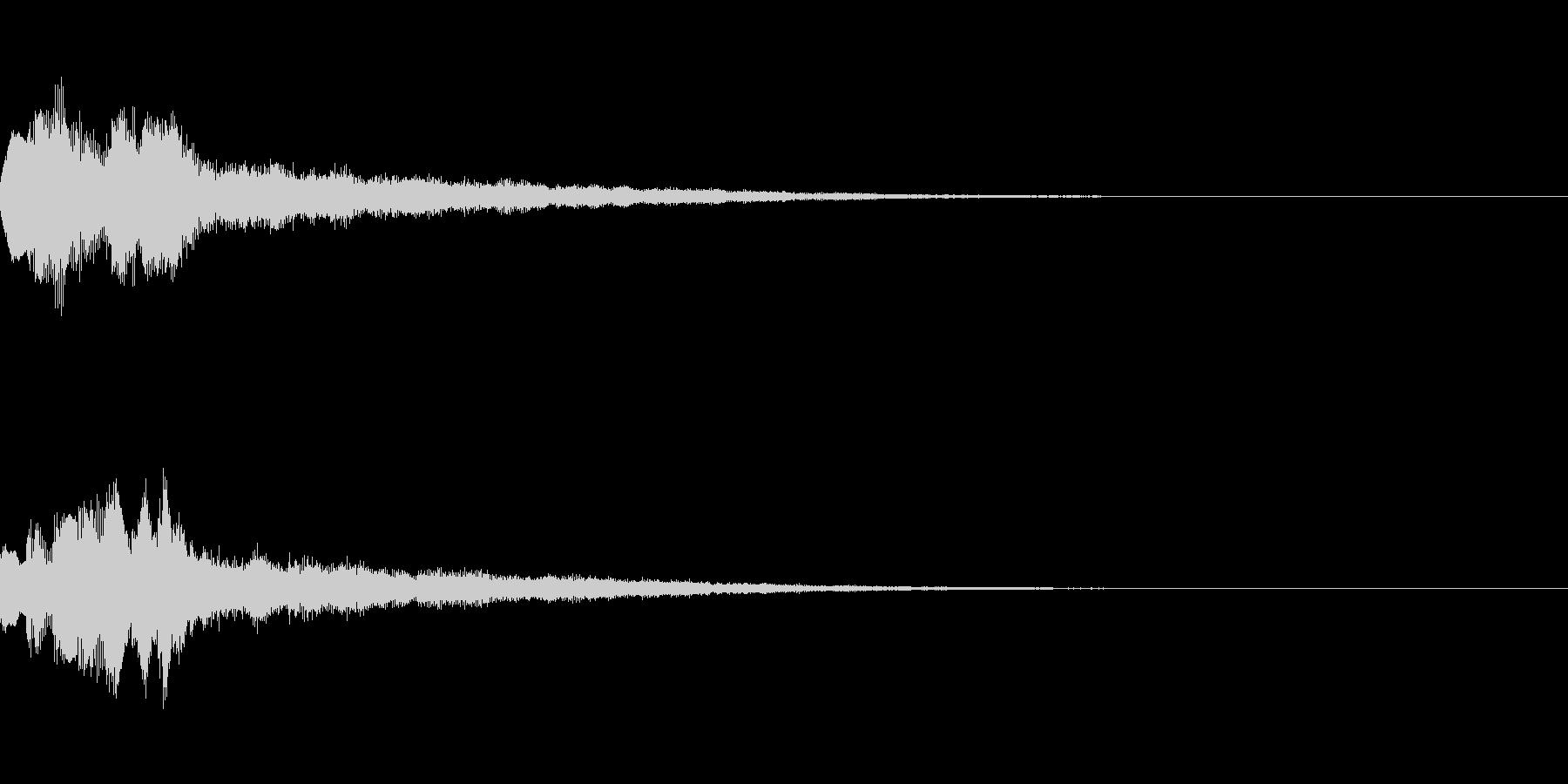 タラララララーンの未再生の波形