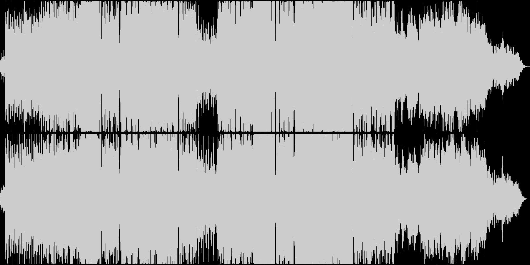 アンビエントでダークな雰囲気のテクノ2の未再生の波形