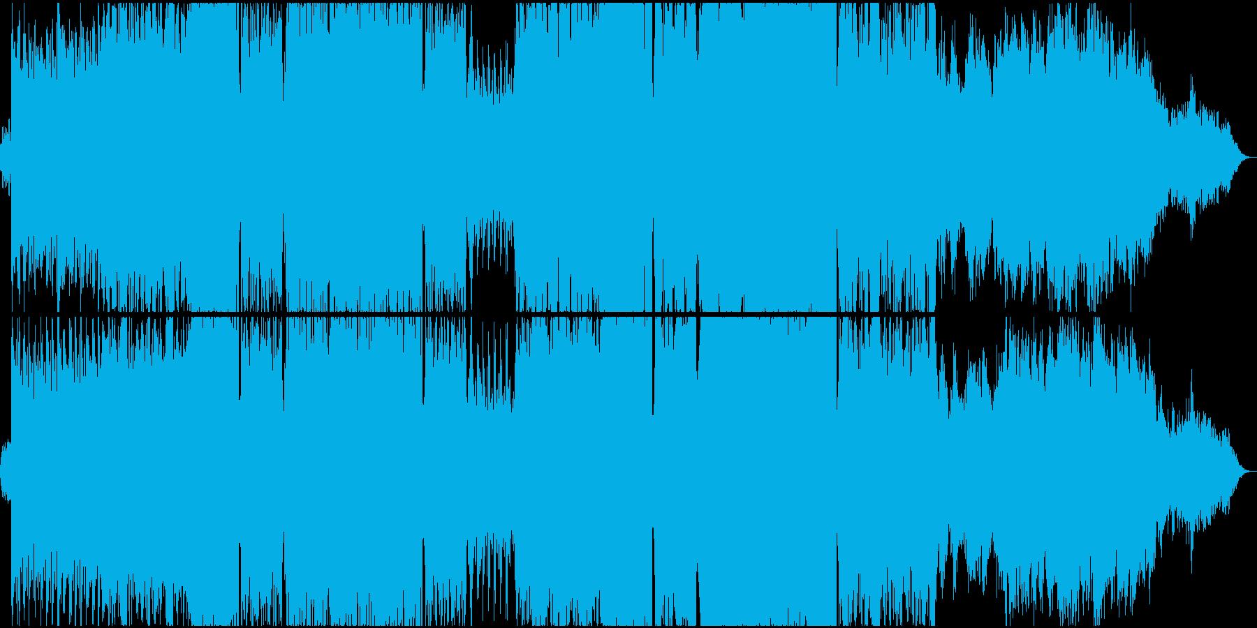 アンビエントでダークな雰囲気のテクノ2の再生済みの波形