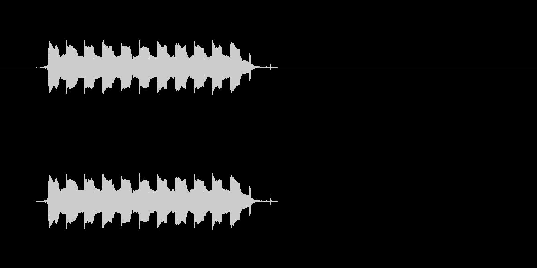 ピルルルルル(電話のコール音)の未再生の波形