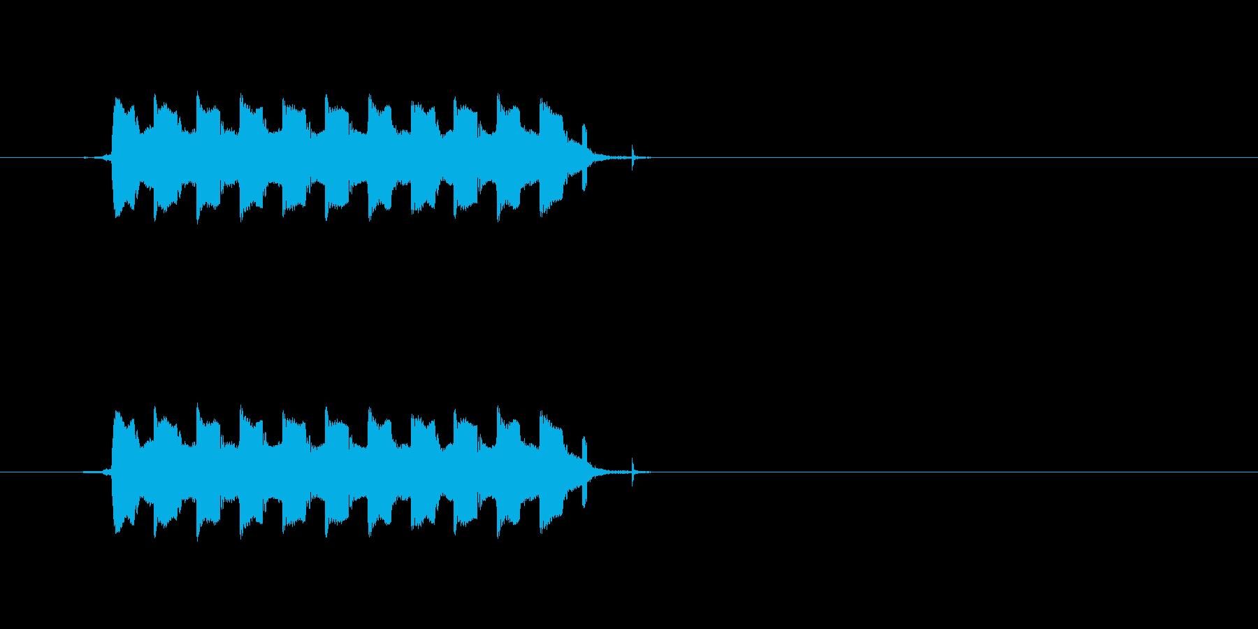 ピルルルルル(電話のコール音)の再生済みの波形