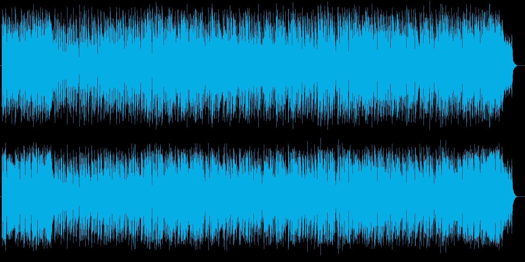 優しい雰囲気のキーボードポップスの再生済みの波形