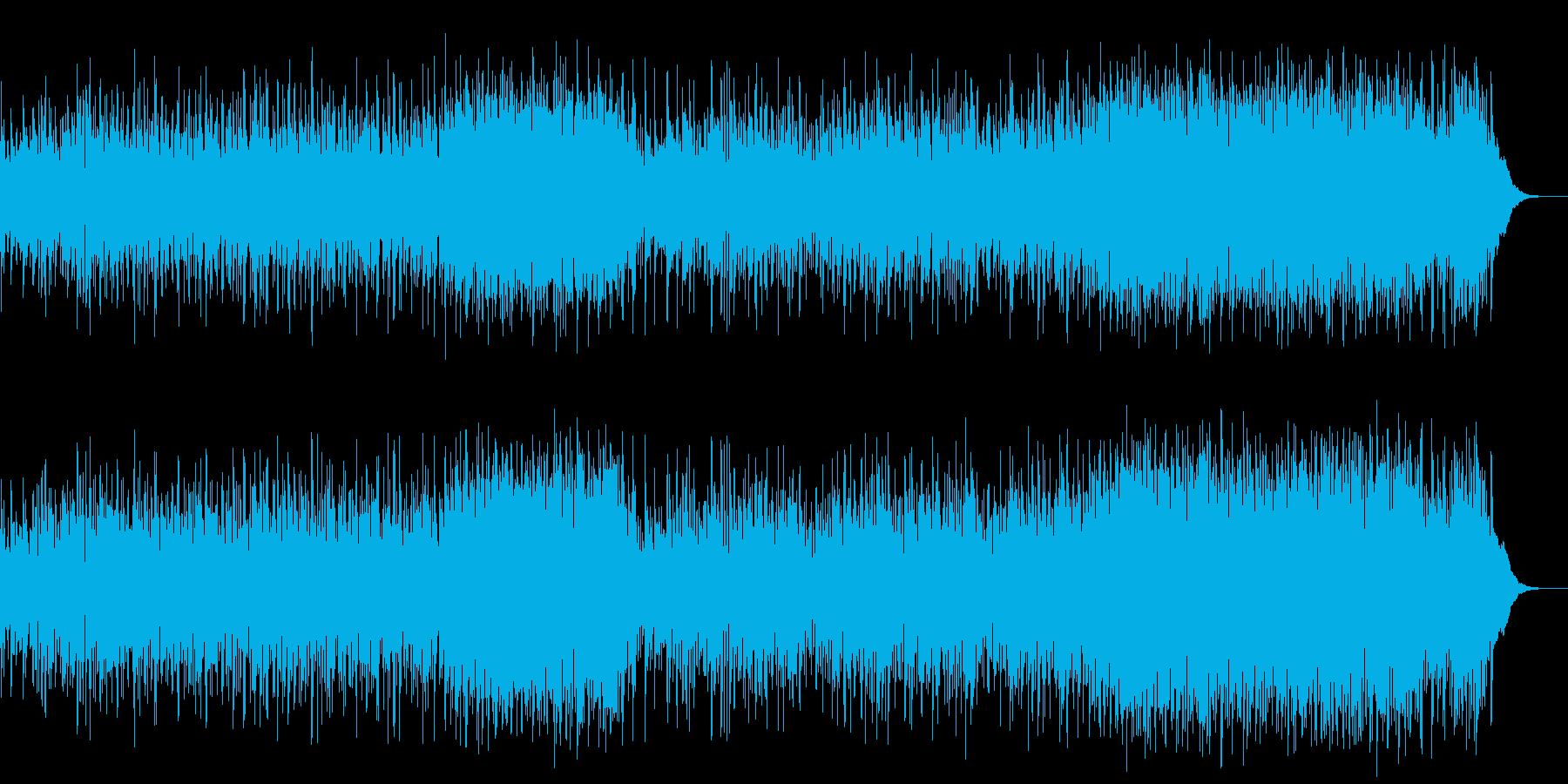ボサノバのリズムの落ち着いたポップスの再生済みの波形