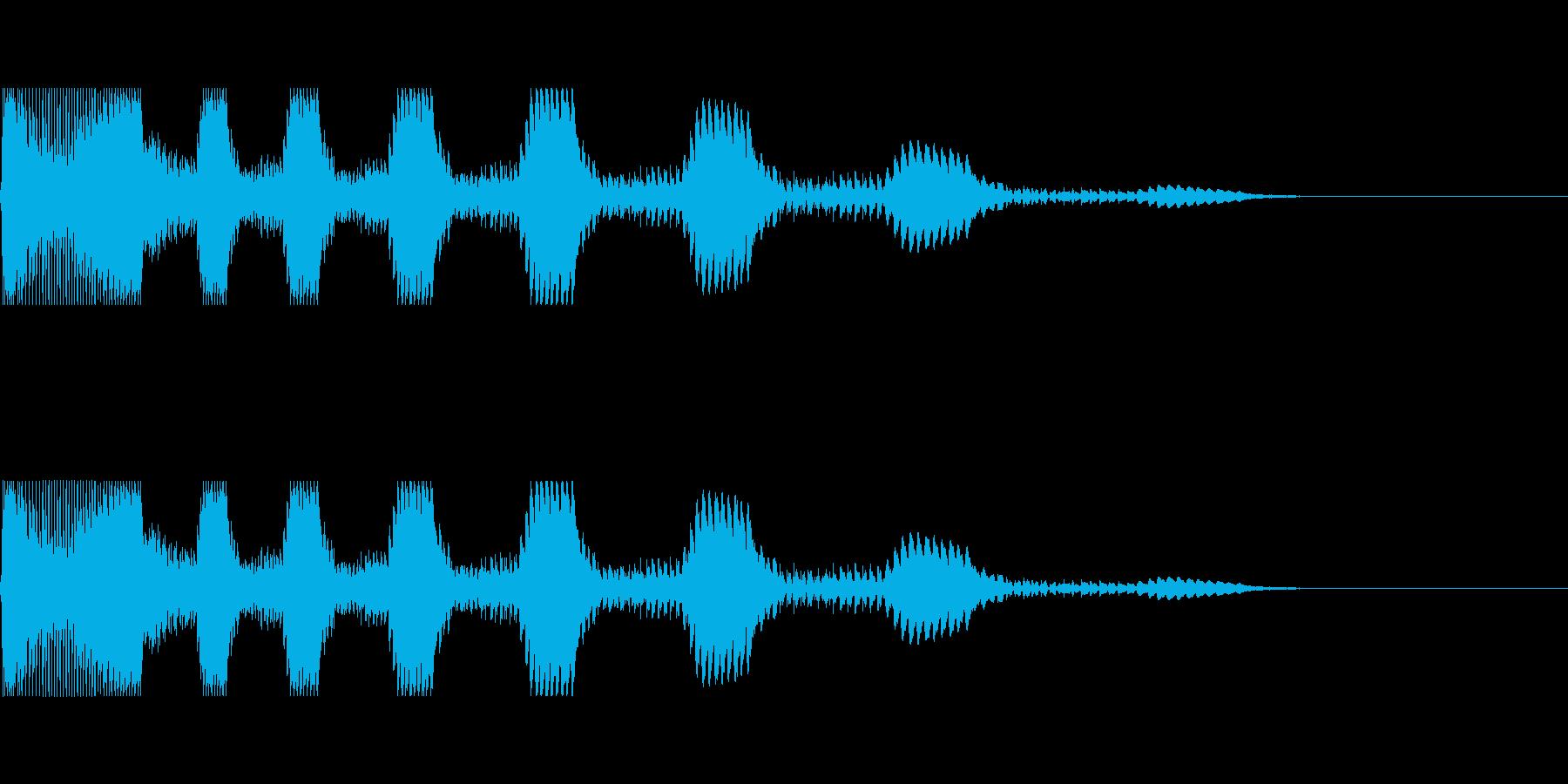 アニメでの失敗シーンの再生済みの波形