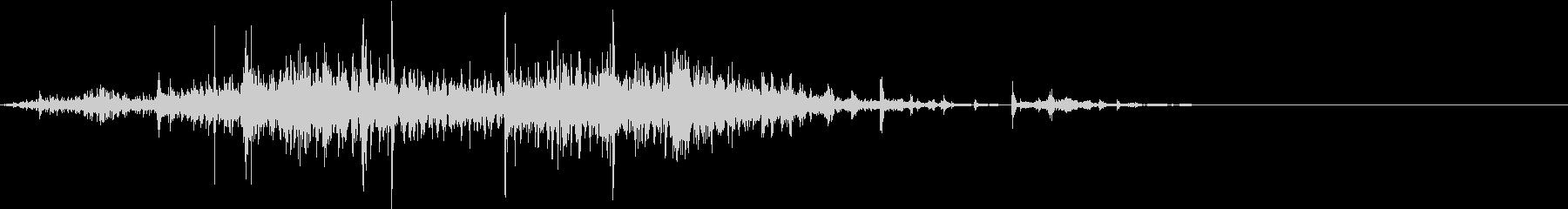 【生録音】 ビニール袋のノイズ ゴミ箱音の未再生の波形