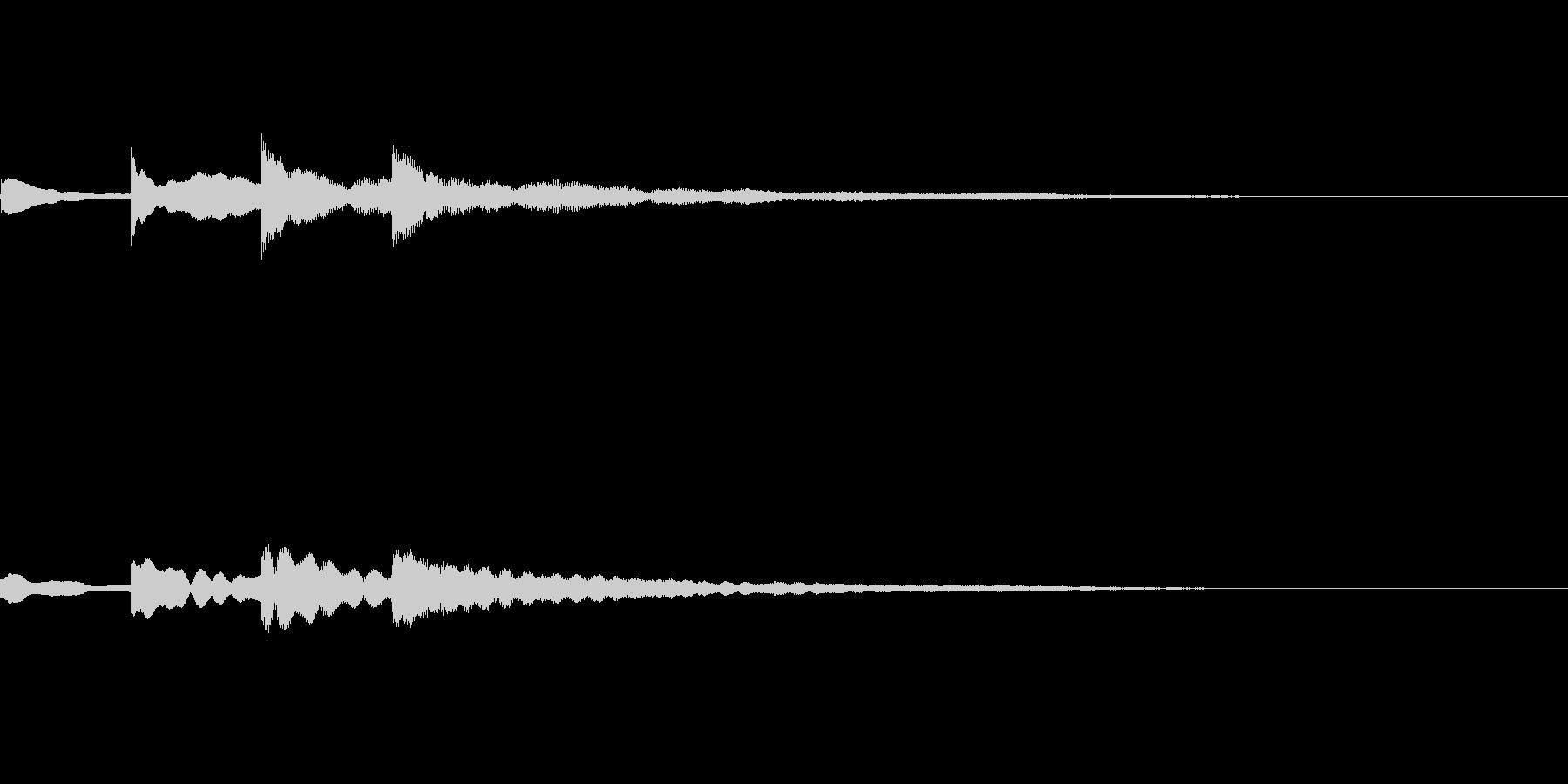 不安音02の未再生の波形