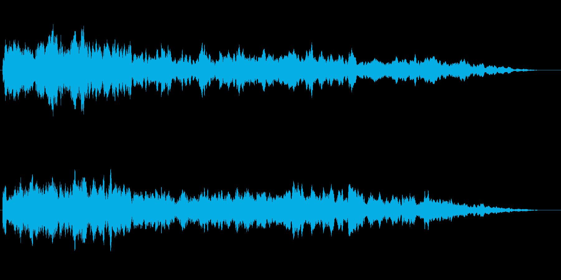大型エンジン等の 【動力停止音 SE】の再生済みの波形