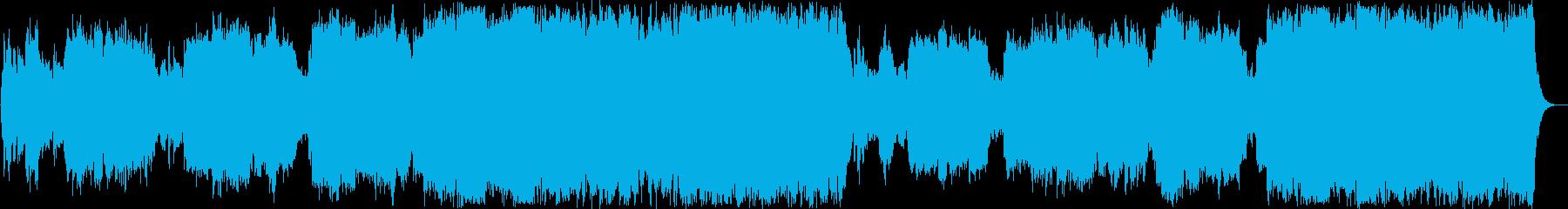 穏やかなシンセ管楽器サウンドの再生済みの波形