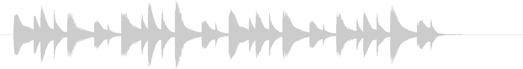 明るめの場面切り替えに使えるジングルの未再生の波形