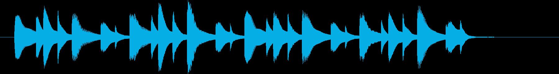 明るめの場面切り替えに使えるジングルの再生済みの波形