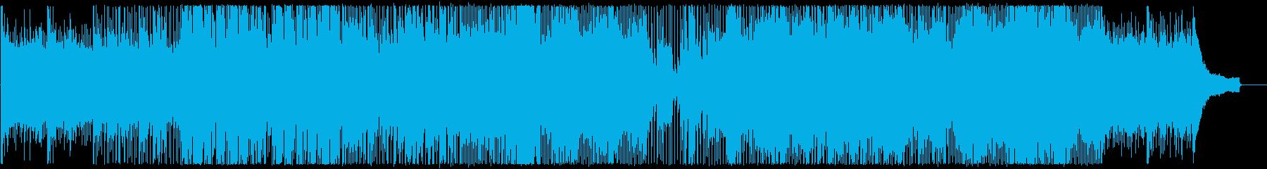 明るくハッピーなピアノとドラムの曲の再生済みの波形