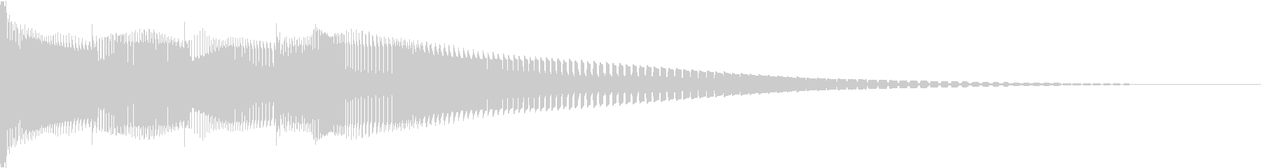 Henteko 可愛いクラッシュ音 5の未再生の波形