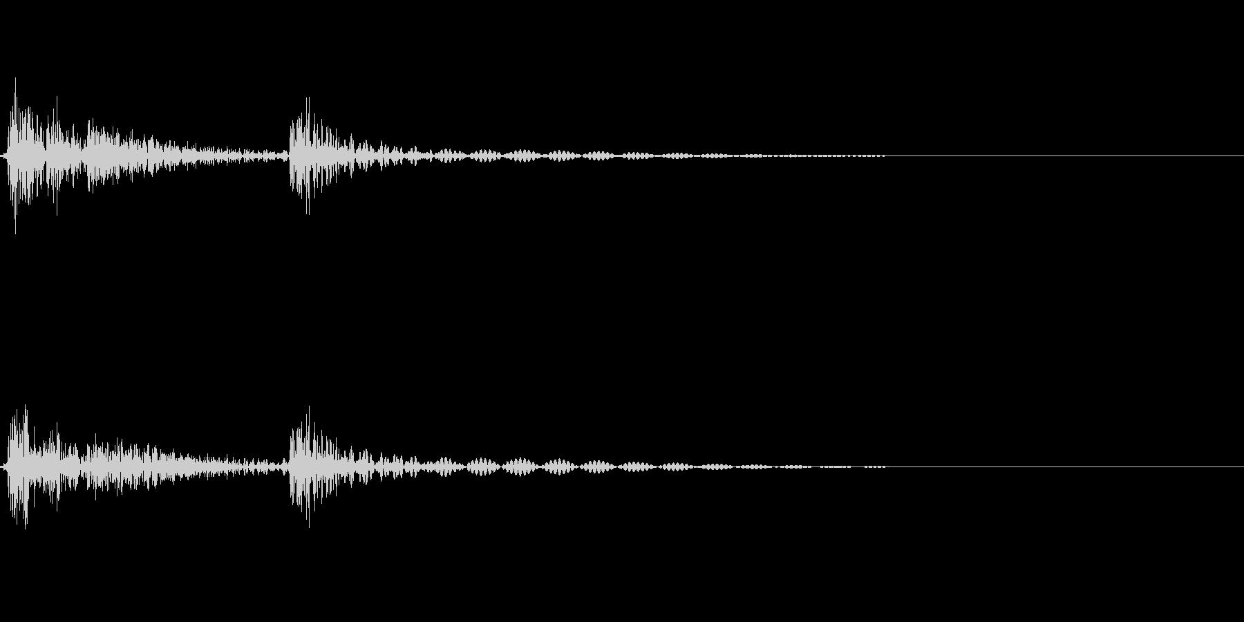 [カチッ]ボタン押下・タップ(コミカル)の未再生の波形