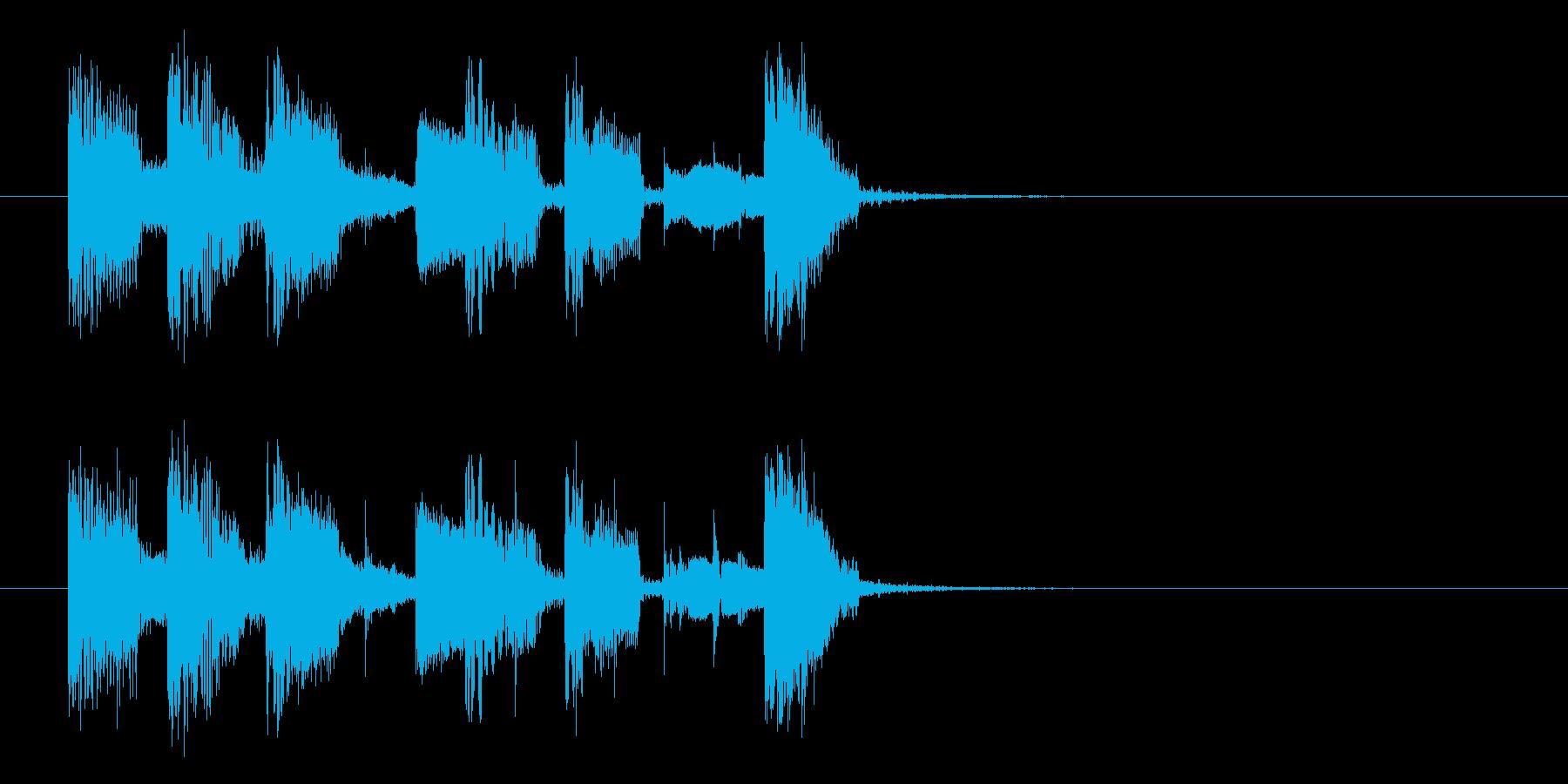 軽快でポップなシンセジングルの再生済みの波形