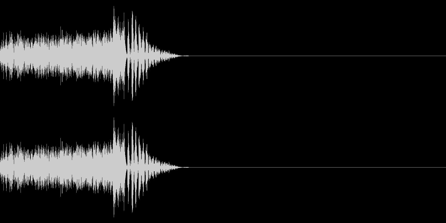パカッ/ポンっ/卵の未再生の波形
