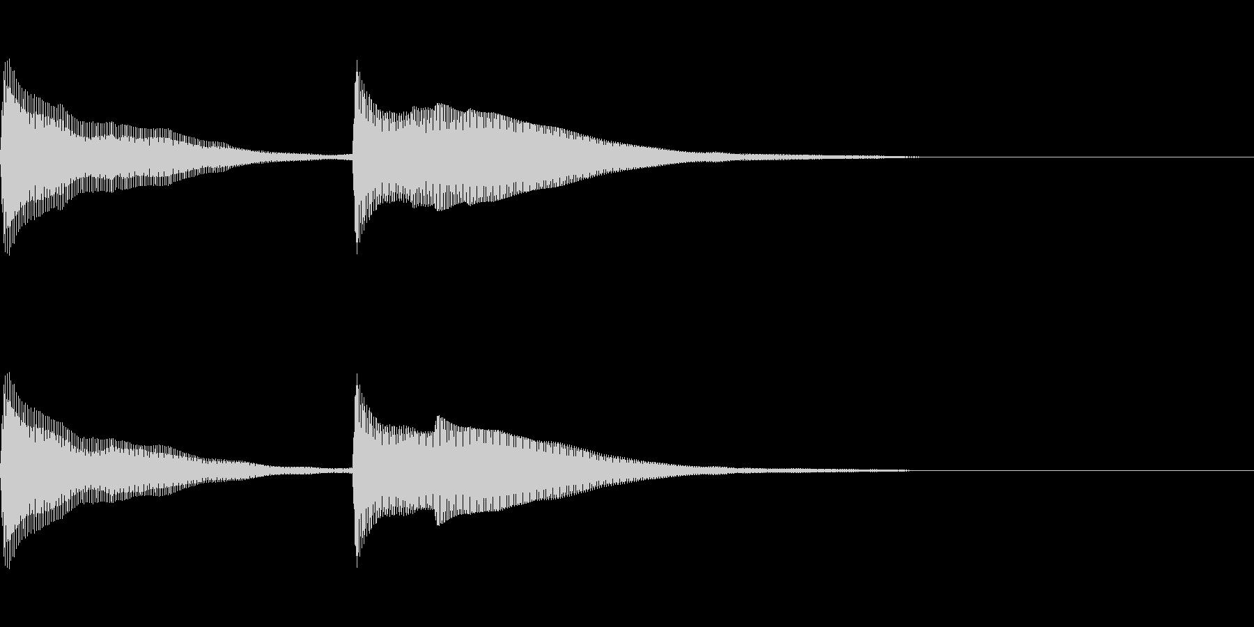正解 2C 明るい音色 ピンポーンの未再生の波形