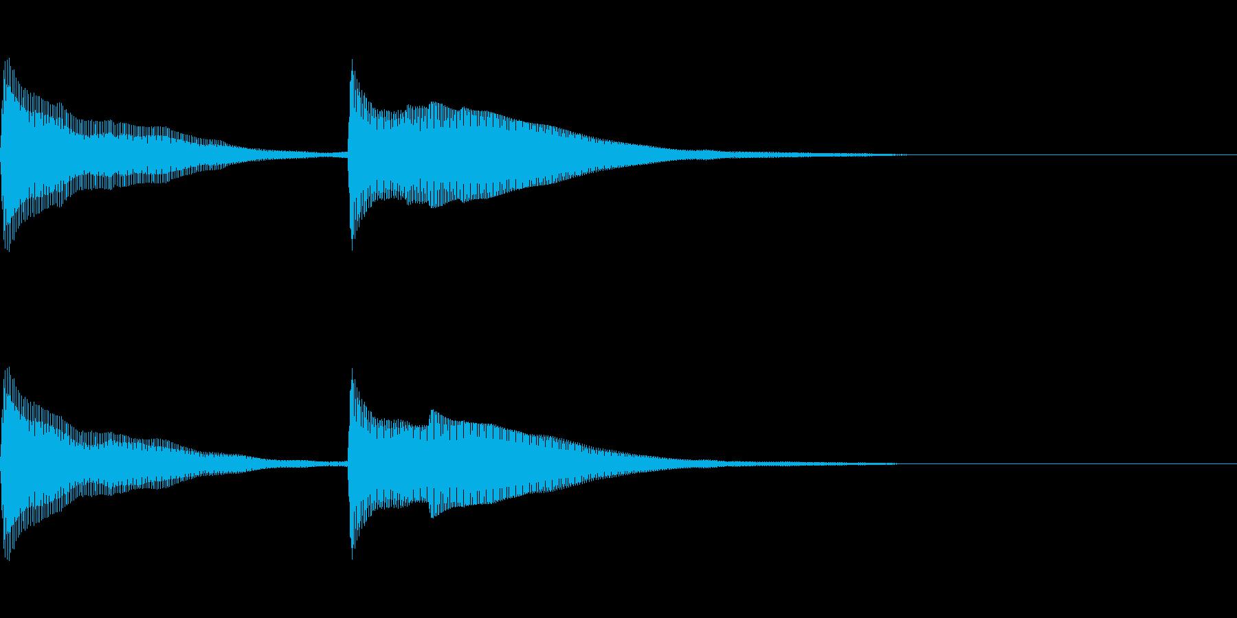 正解 2C 明るい音色 ピンポーンの再生済みの波形