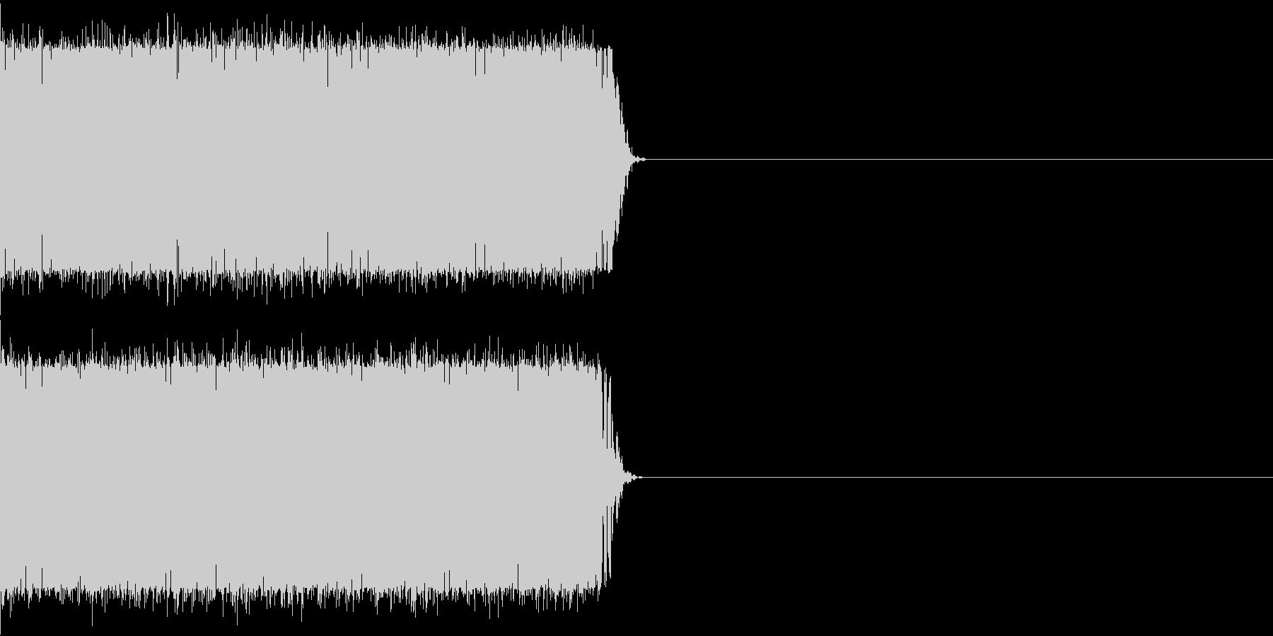 バリバリバリバリの未再生の波形