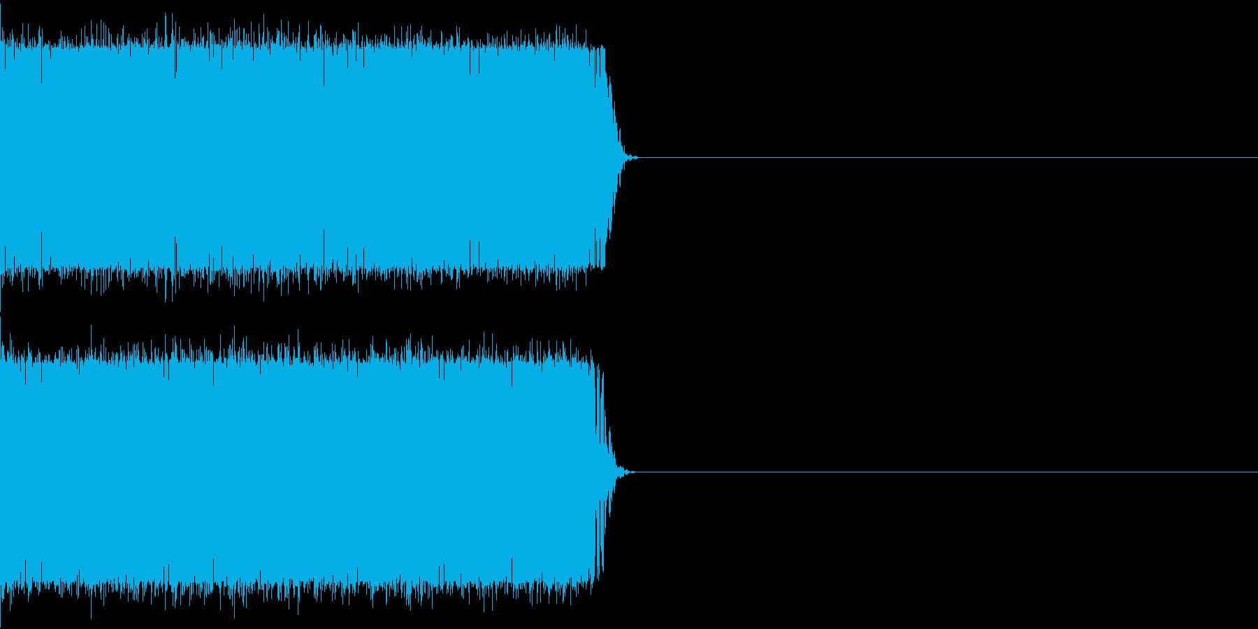 バリバリバリバリの再生済みの波形
