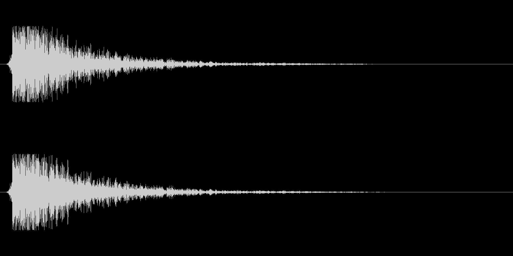 【大砲01-6】の未再生の波形