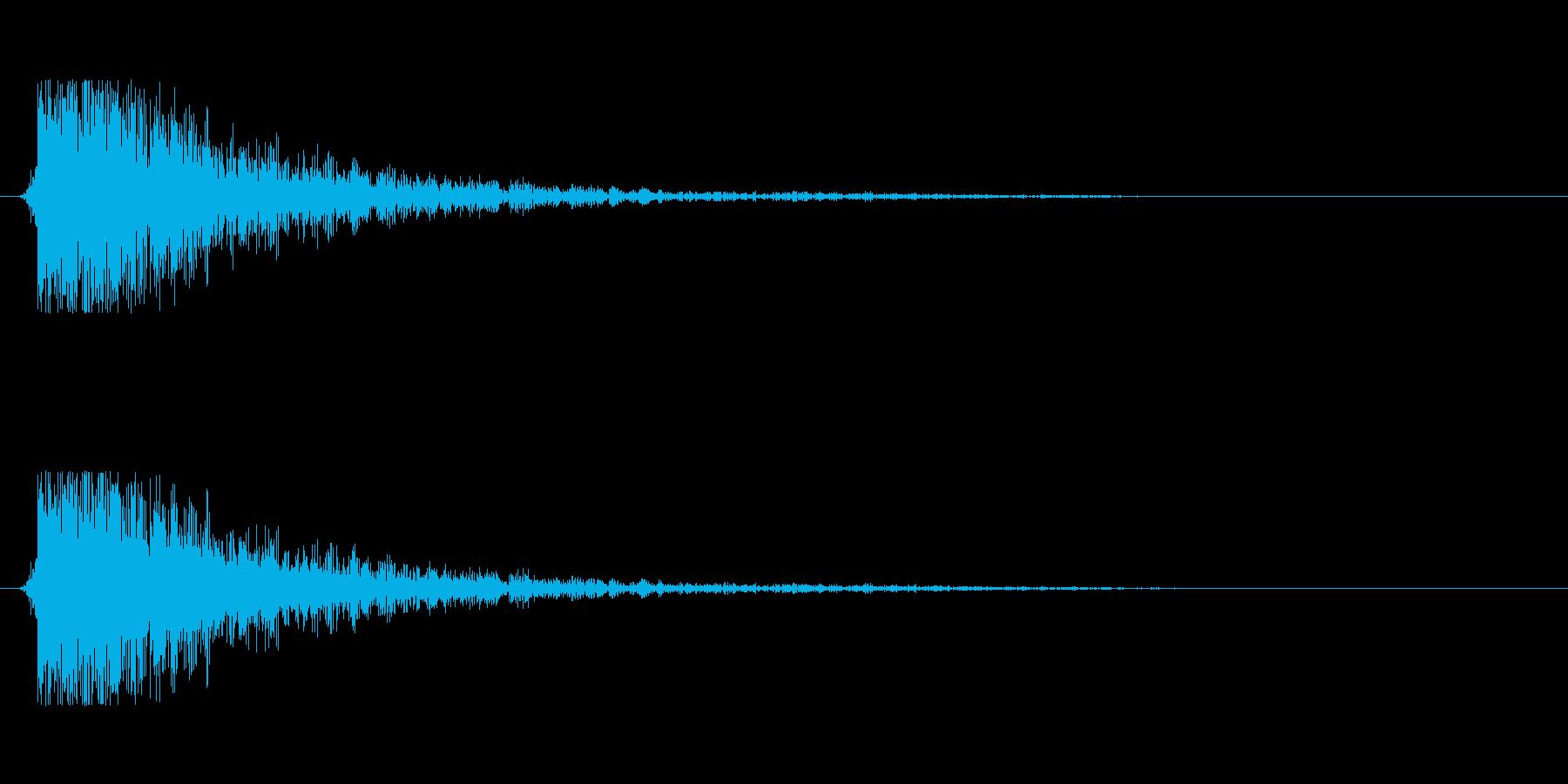 【大砲01-6】の再生済みの波形