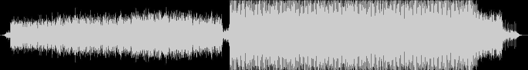 浮遊感のある序盤〜エレクトロに展開する曲の未再生の波形