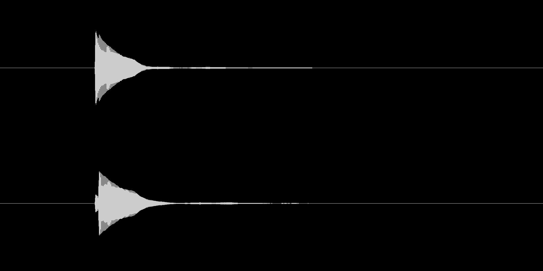 選択ボタンなどで使える短いボタン音の未再生の波形