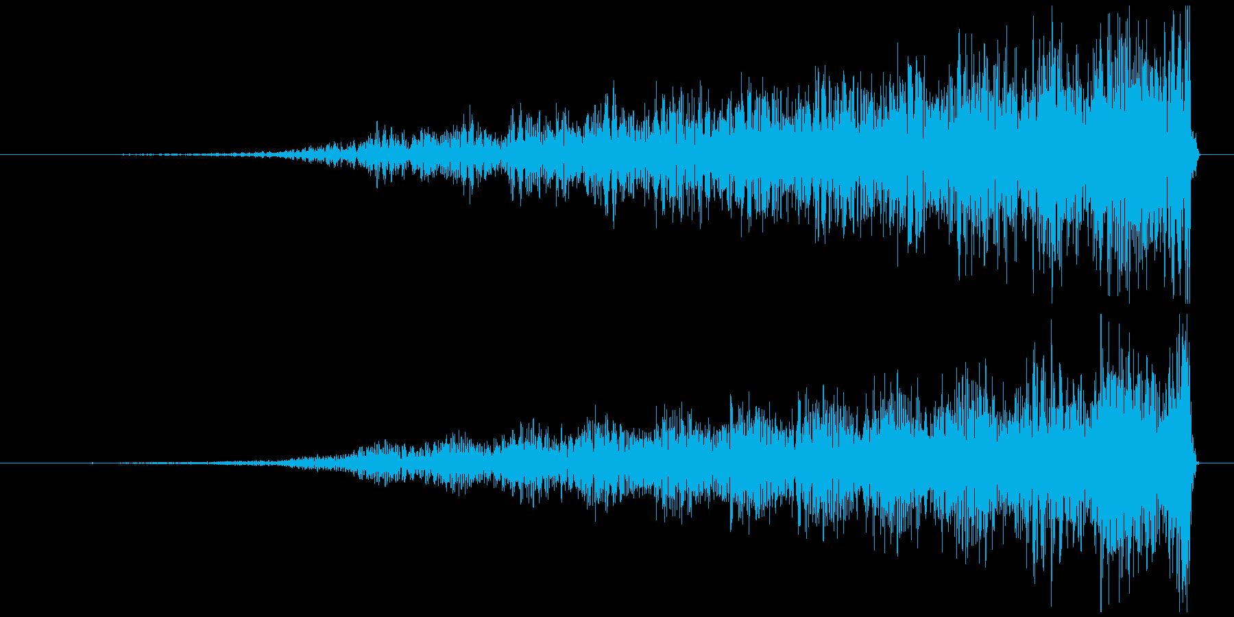 ホラー系効果音 何かが背後から迫りくる音の再生済みの波形