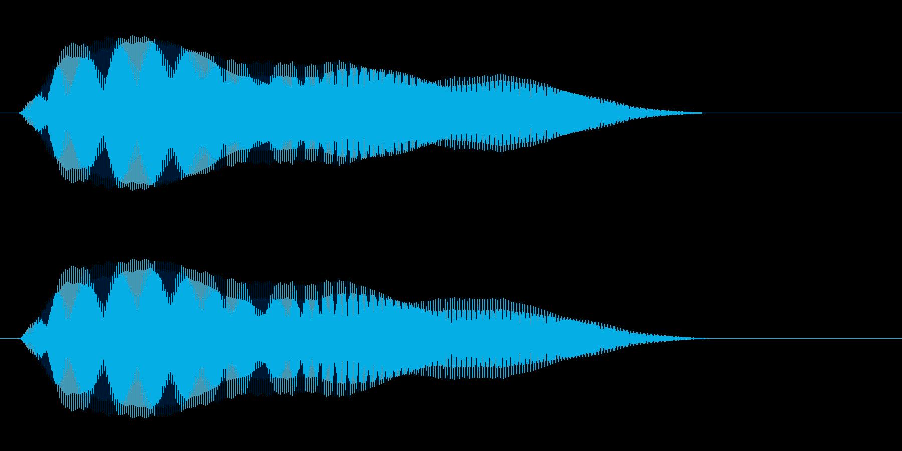 シンプルなSE(ピューとなる音)の再生済みの波形