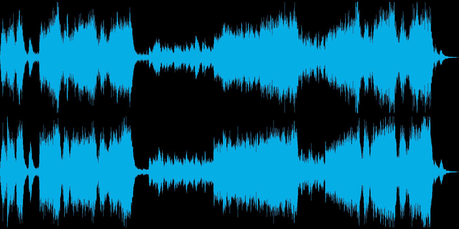 どたばたと大騒ぎするアップテンポな曲の再生済みの波形