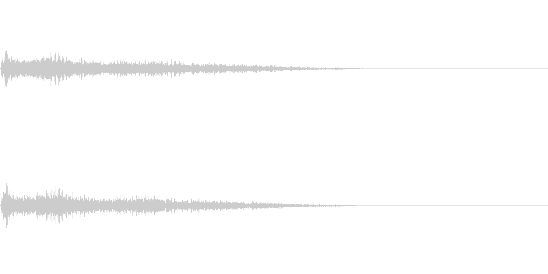 F♯マイナー インパクト音 衝撃音の未再生の波形