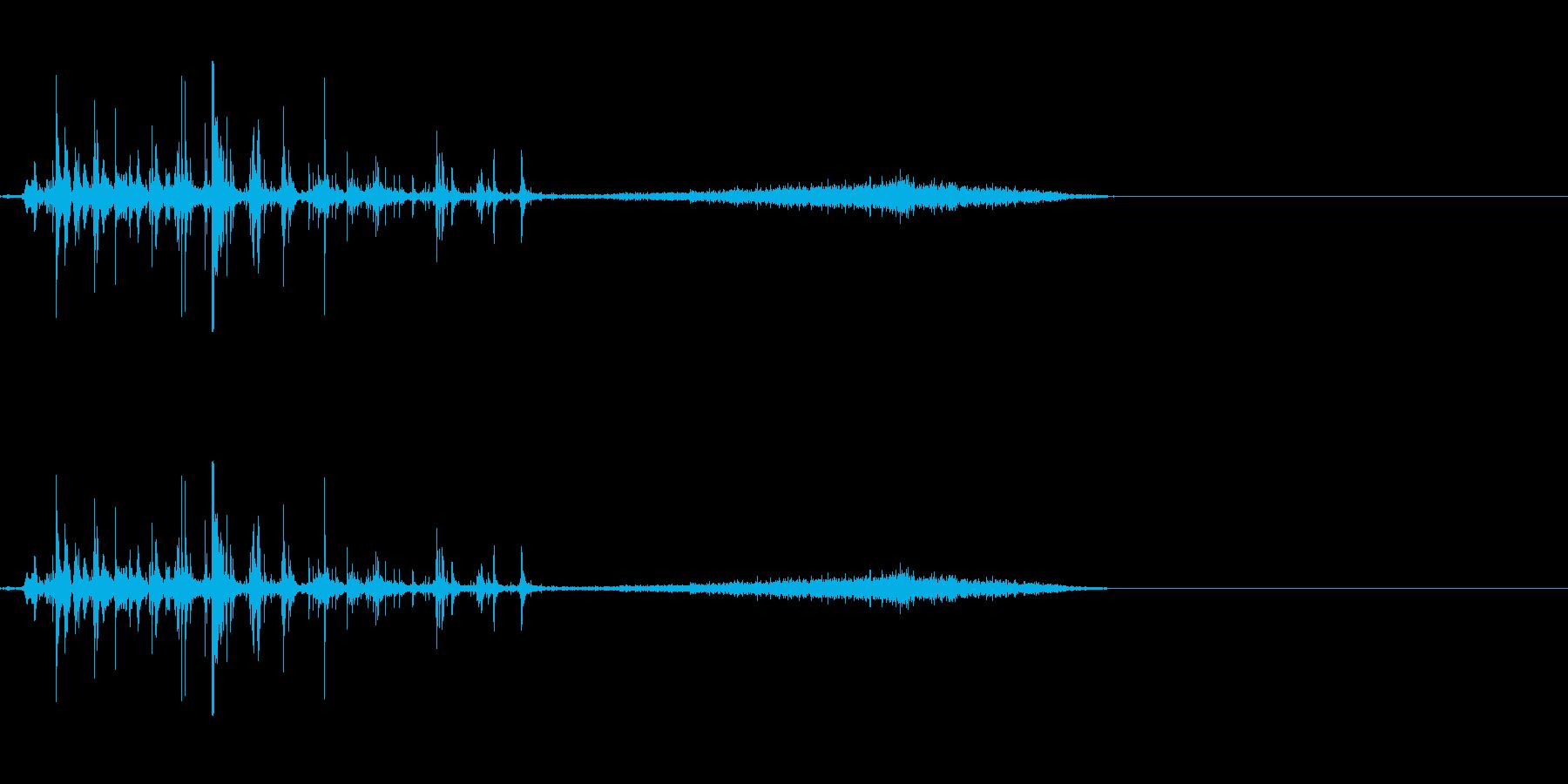 炭酸系 注ぐ音の再生済みの波形