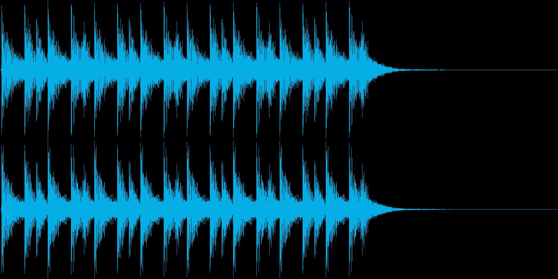 ドンドコドンドコ…(和太鼓、リズム)の再生済みの波形