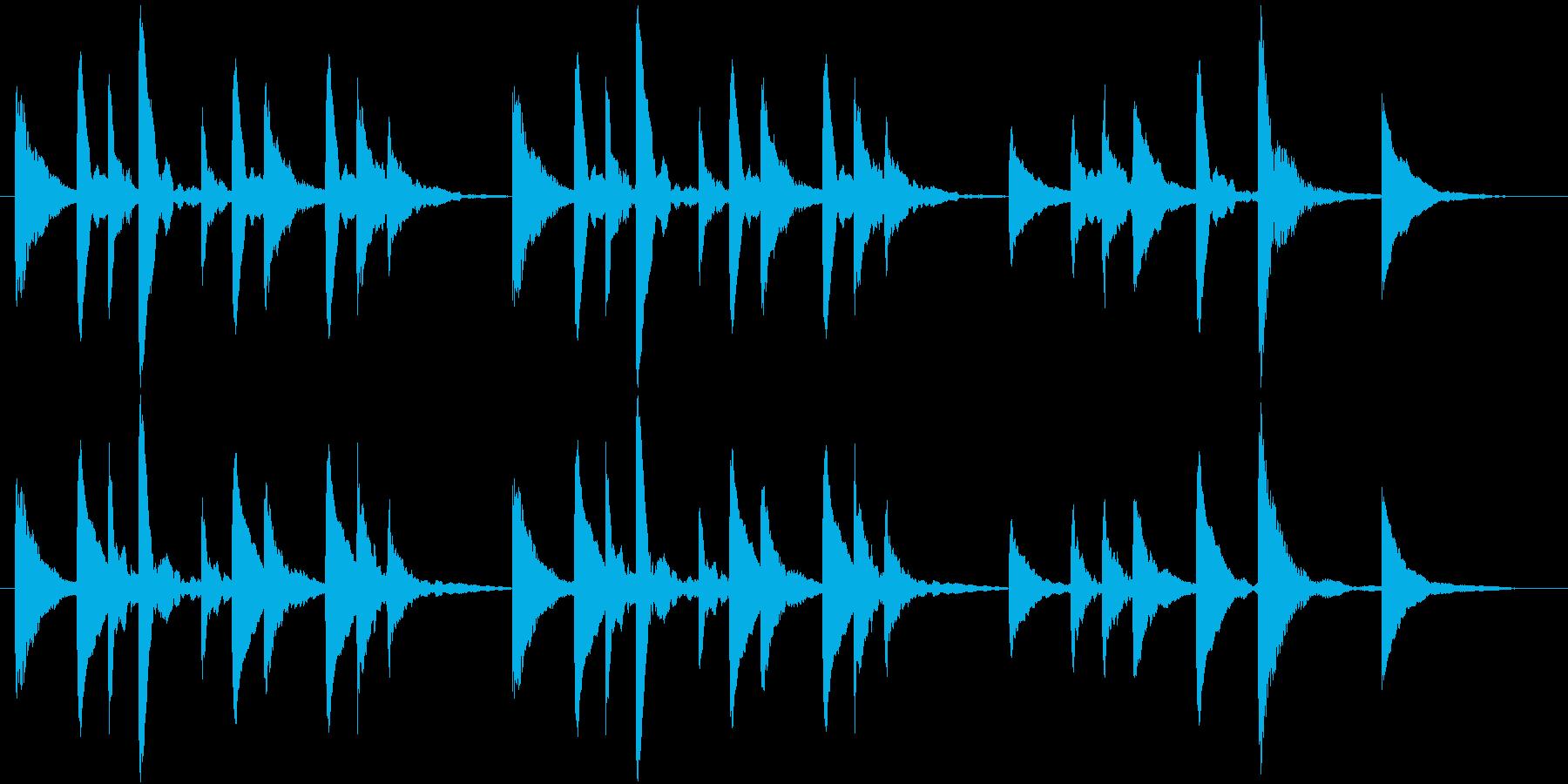 穏やか、ほのぼのとしたマリンバのジングルの再生済みの波形