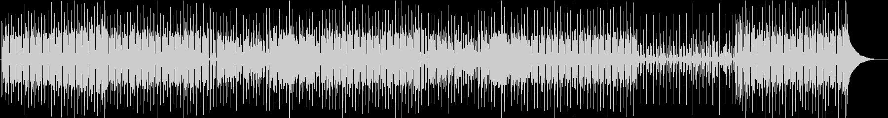 少しコミカルで落ち着いたBGMの未再生の波形