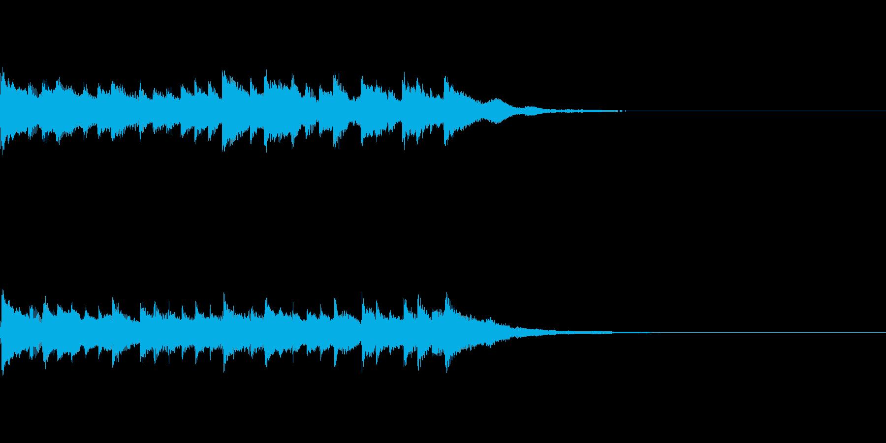 アニメのタイトルコール風なチャイムの再生済みの波形