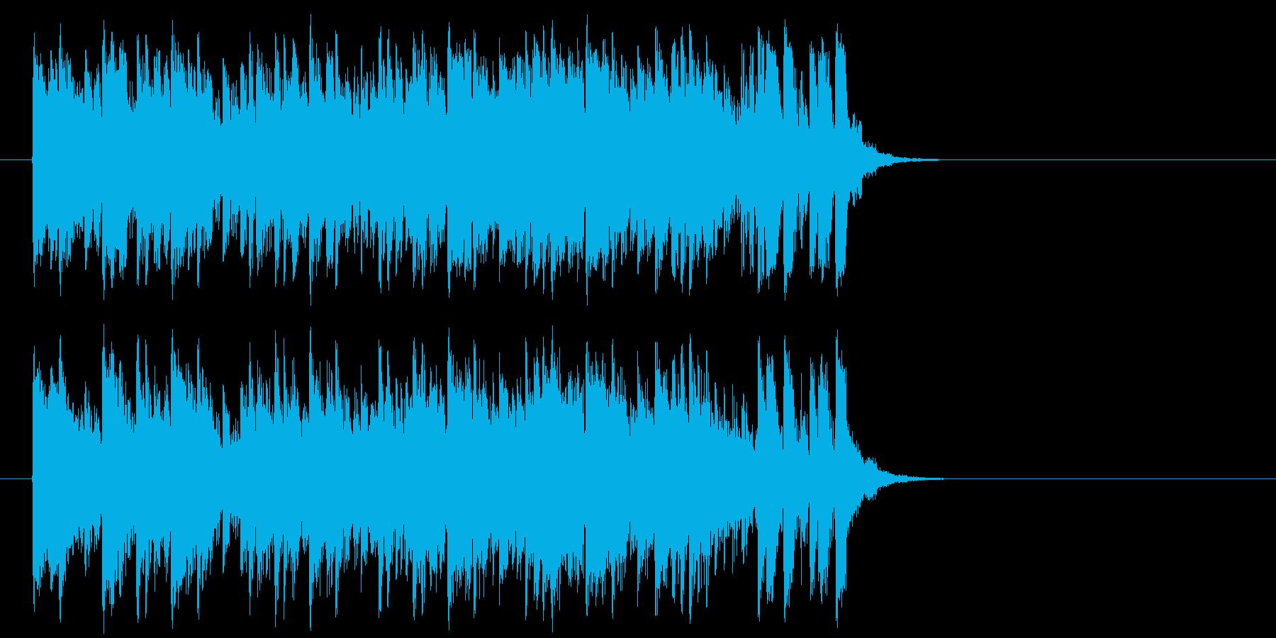 推進力ある元気なポップ(サビ)の再生済みの波形