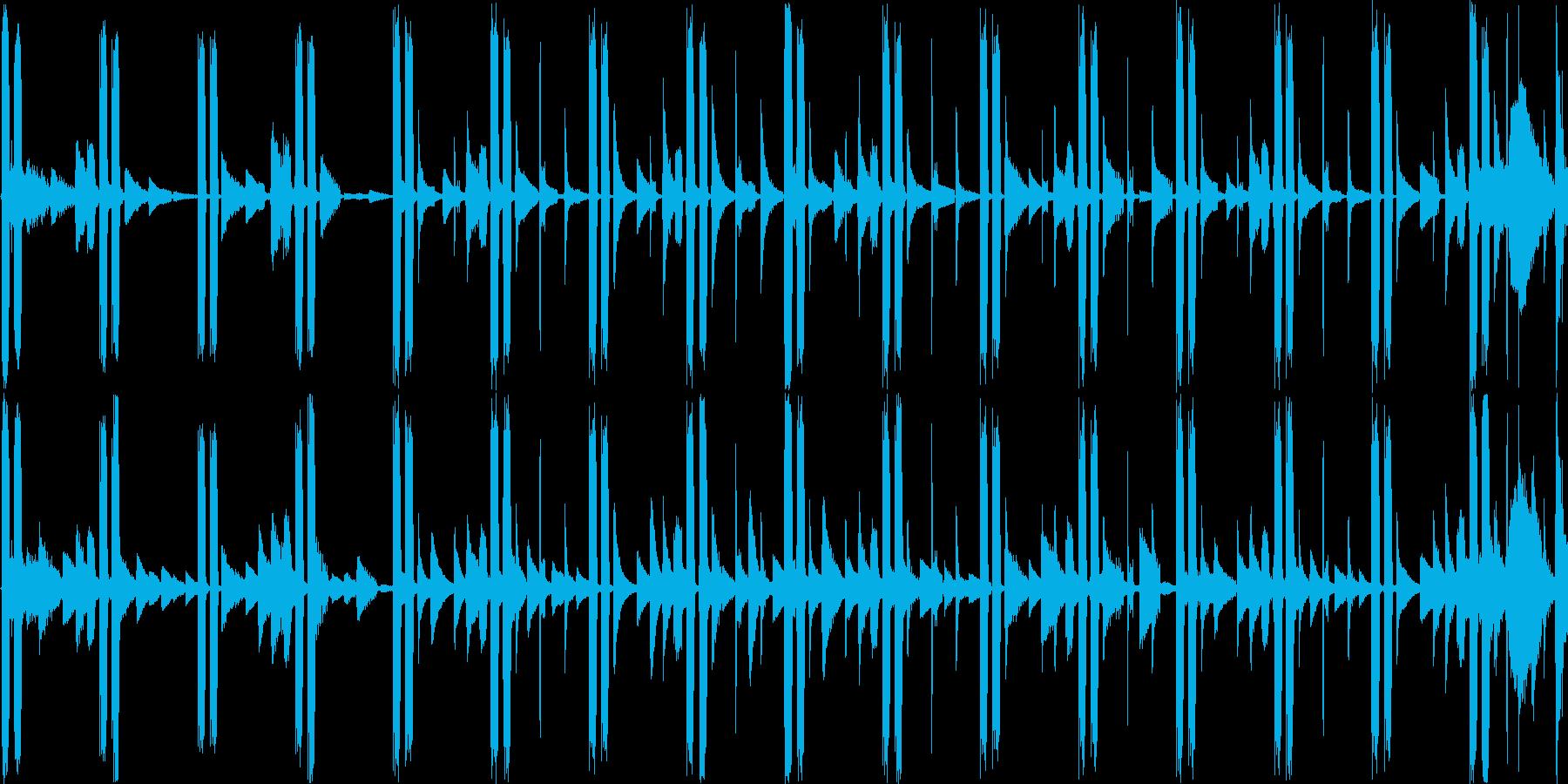 不思議で神秘的な雰囲気のエレクトロニカの再生済みの波形
