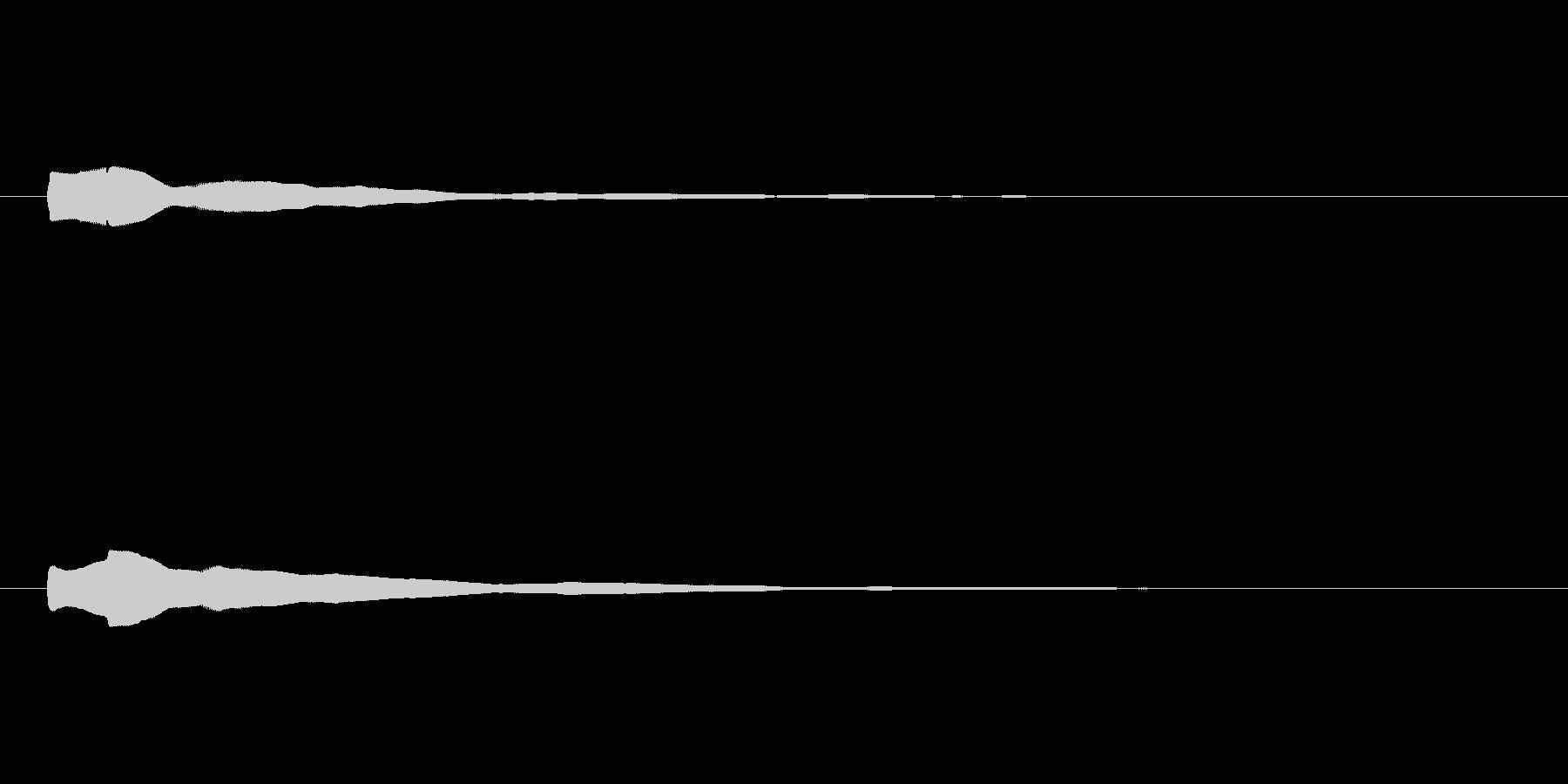 電子音「ポーン」 通常 の未再生の波形